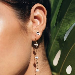 🆕Sterling Silver Monstera Studs Earrings